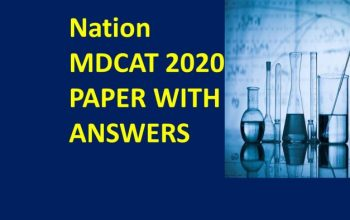 Nation MDCAT 2020 paper with answers