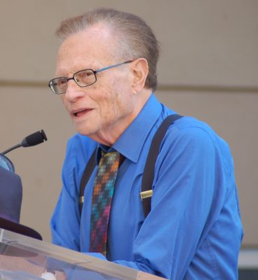 Larry King-an 87 years old man , hospitalized due to COVID-19